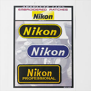 NIKON-CAMERA-PATCHES-Iron-On-Patch-Super-Set-132-FREE-POSTAGE