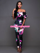 23ebd957a2e item 7 USA Women Ruffle Off Shoulder Floral Plus Size Party Club Sexy  Jumpsuit Rompers -USA Women Ruffle Off Shoulder Floral Plus Size Party Club  Sexy ...