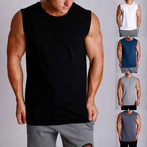 3PACK-Mens-MUSCLE-Lifting-Gym-Training-Singlet-Weights-Stringer-Tank-Tops