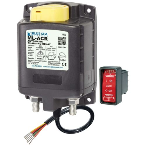 Blue Sea 7622 ML-ACR Automatic Charging Relay with Manual Control Marine