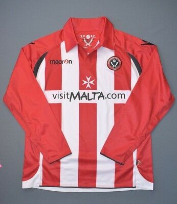 Sheffield United Jersey 2009 2010 Home S Shirt Mens Long ...