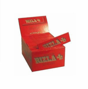 50-BOOKLETS-RIZLA-KING-SIZE-RED-SMOKING-PAPERS-sealed-FULL-BOX