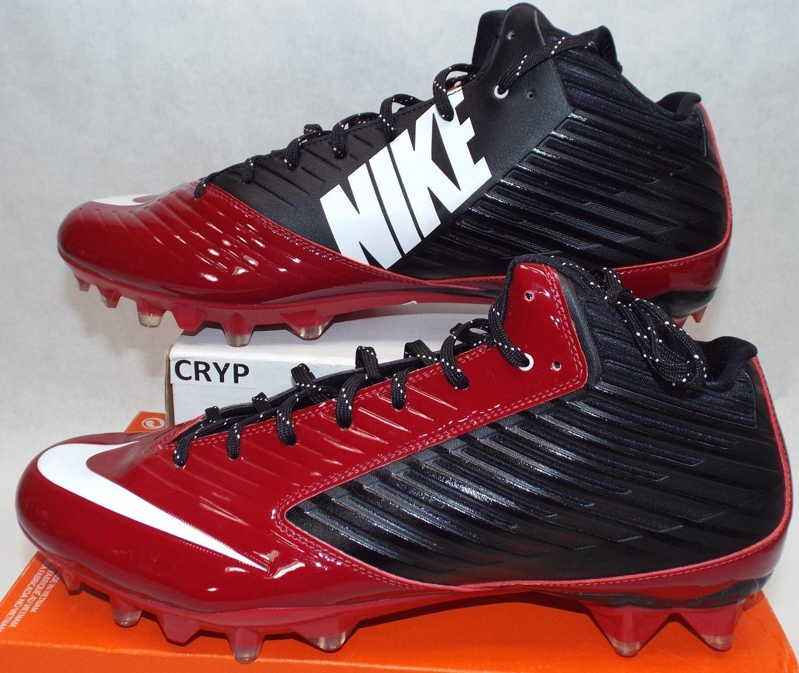 New Mens 15 NIKE Vapor Speed 3 4 TD Tough Maroon Football Cleats  120 668839-001