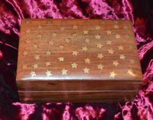 Details About Small Wooden Box 2 Designs Paganwiccangothicmagic