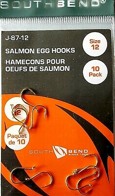 Salmon Egg Hooks Size 12 Gold 144ct.Lot  South Bend J-87-12 12 packs of 22 each
