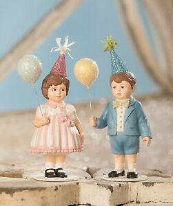 Bethany-Lowe-Set-Of-2-Party-Time-Children-TD9008-Birthday-Girl-and-Boy