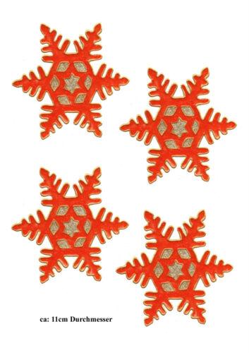 225 Window Color Bild Fensterbild Fensterfolie Sterne Rot Glittergold
