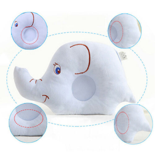 Baby Pillow Soft Cotton Prevent Flat Head Anti Roll Neck Positioner For Infant.