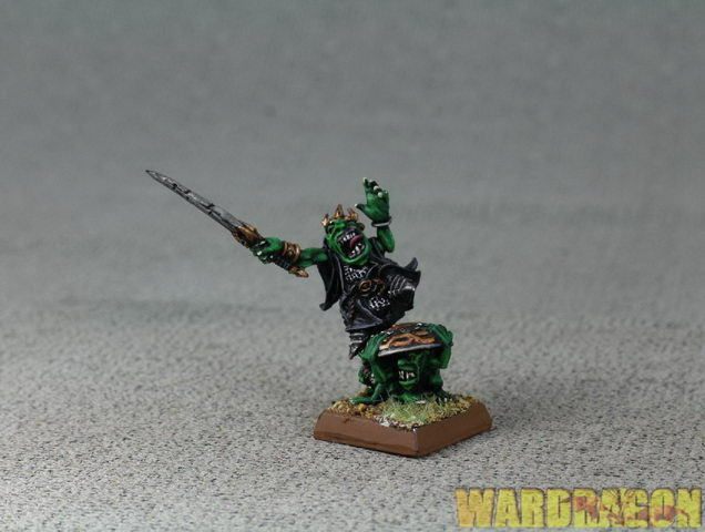 Avatars of War WDS painted Goblin King & Gredling Shield Bearers d30