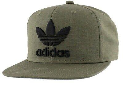 Adidas Men/'s Originals Trefoil Chain Snapback Cap Heather Grey//Black One Size