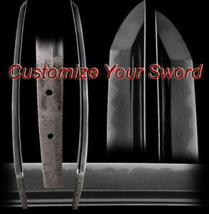 More-Options-Custom-Japanese-Sword-Build-Your-Own-Blade-T10-Clay-Tempered-Katana