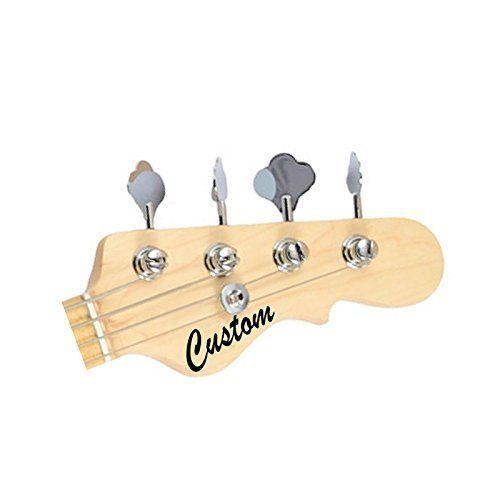 2 Custom Cut Vinyl Headstock Decals + FREE Fender Guitar Pick
