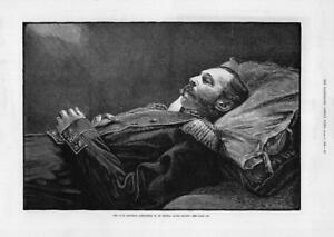 1881-Antique-Print-RUSSIA-ALEXANDER-11-Emperor-Laying-In-State-Death-180