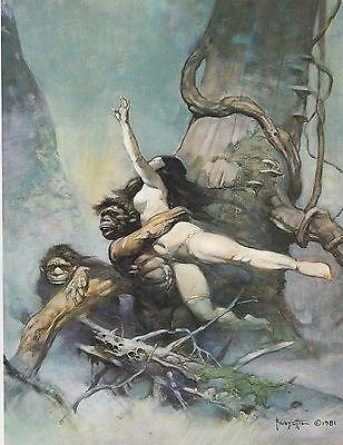"1977 full Color Plate /""Escape On Venus/"" by Frank Frazetta Fantastic GGA"