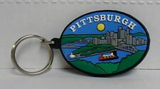 Wholesale Lot of 12, Pittsburgh Pennsylvania, River View, Rubber Keychain, NEW