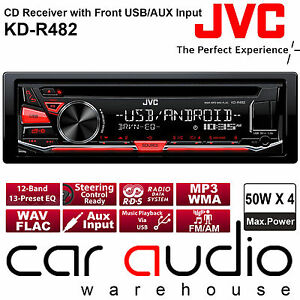 jvc kd r482 cd mp3 usb aux in android car stereo radio. Black Bedroom Furniture Sets. Home Design Ideas
