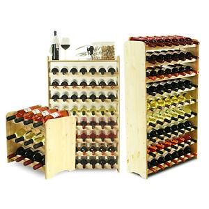 2 FARBEN Weinregal Flaschenregal Weinschrank  für 63 Flaschen 118 cm RW-3-63