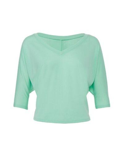 Bella Boxy Half Sleeve V-Neck T-Shirt V-Ausschnitt Kurzarm S C XL BL8825