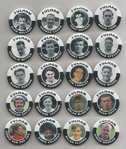 Details about FULHAM FC LEGENDS BADGES X 11 ( pick any 11 from the pics)  38mm In Size