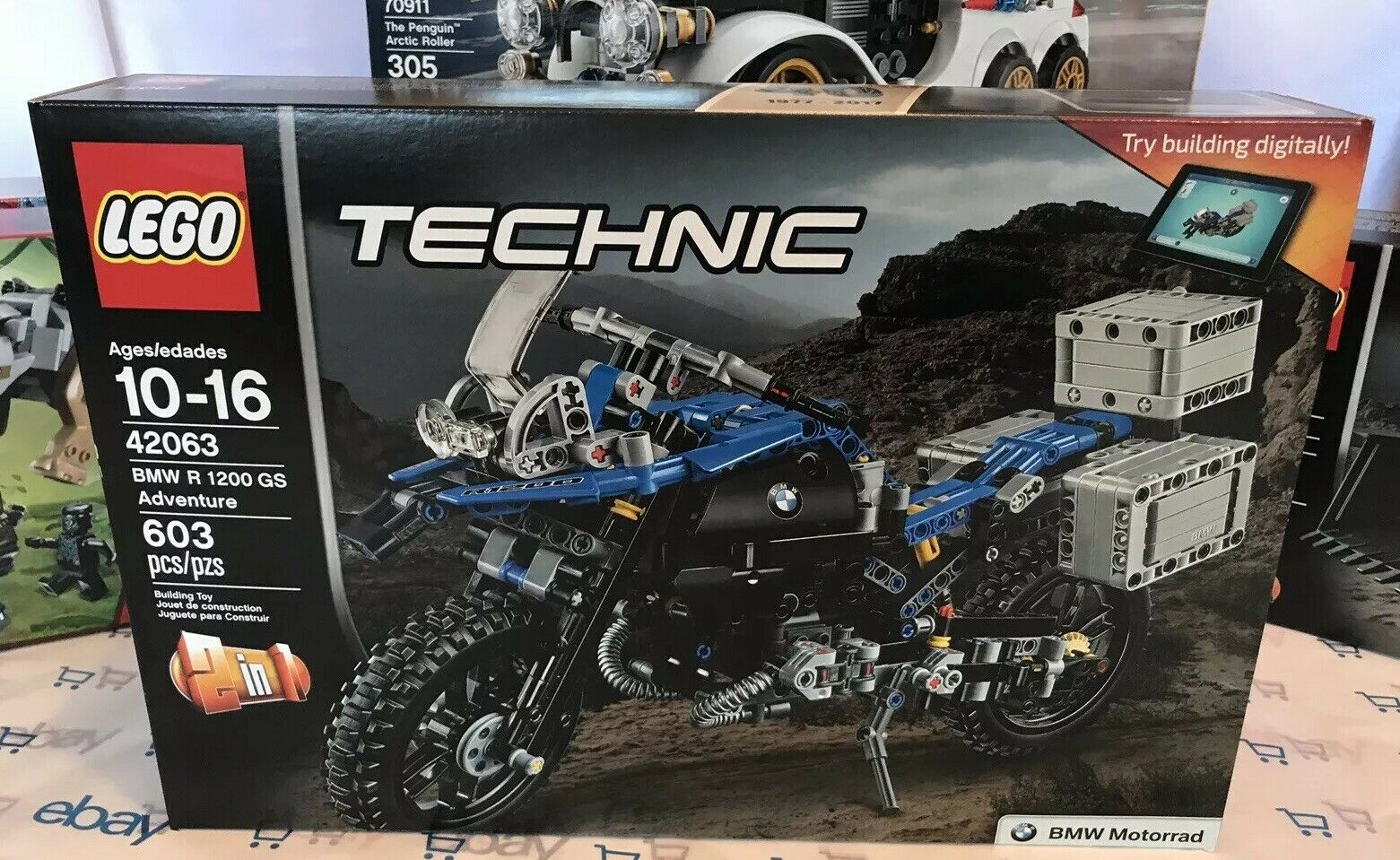 LEGO TECHNIC  42063 BMW R 1200 GS Adventure nouveau In Box Sealed Collector  top marque