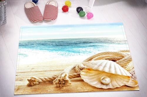 "24x16/""Sea Sand Pearl Shell Non-Slip Xmas Decor Bath Door Carpet Bathroom Mat Rug"