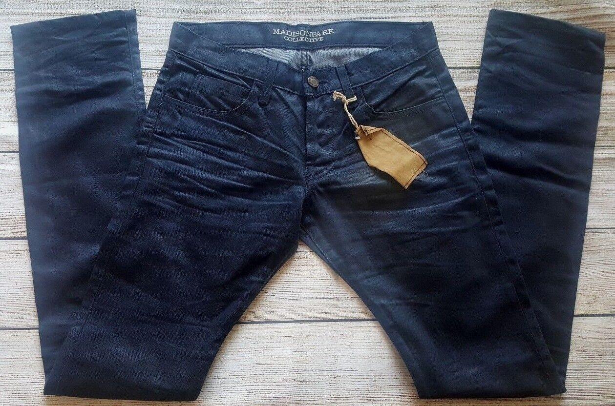 Madison Park Collective Miles Mens bluee Denim Jeans Size 28 X 33