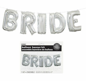 Bride-Balloon-Banner-Kit-Silver-Air-Party-Decoration-Letters-Hen-Party-To-Be