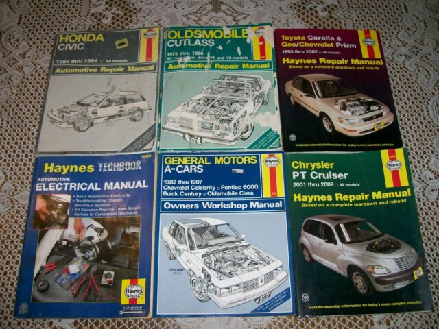 6 Vol  Haynes Auto Repair Manual Honda Toyota Chrysler Pt