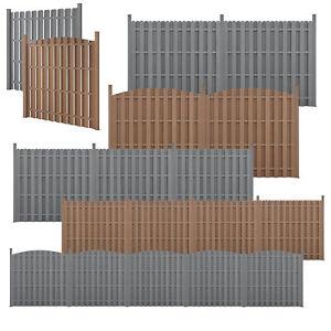 neu.holz WPC Gartenzaun mit Pfosten Sichtschutz Windschutz Lamellenzaun Zaun