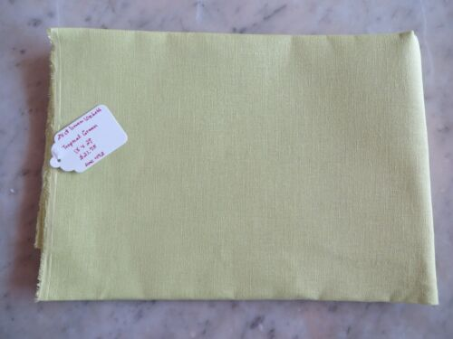 Tropical Green 10/% Off Wichelt Imports 28 count Linen