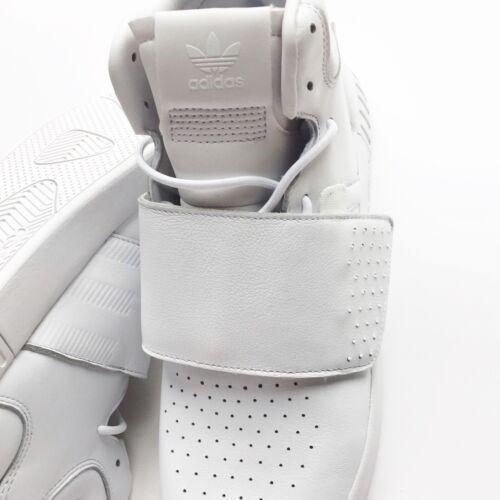 cuero Invader Adidas Zapatos hombre para Bw0872 11 nuevos Tamaño de blancos 5 Strap Tubular Rxq5f06