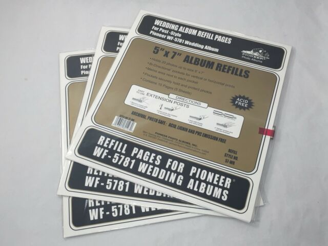 Lot of 3 Packs - Pioneer Wedding Album Refill Pages 57WR for WF-5781