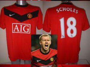 cheaper 17439 ac19b Manchester United Nike PAUL SCHOLES S M L XL XXL Football ...