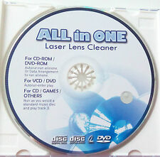 All in One Laser Lens Cleaner Disc für CD DVD Blu Ray Laufwerke Reinigungsdisk