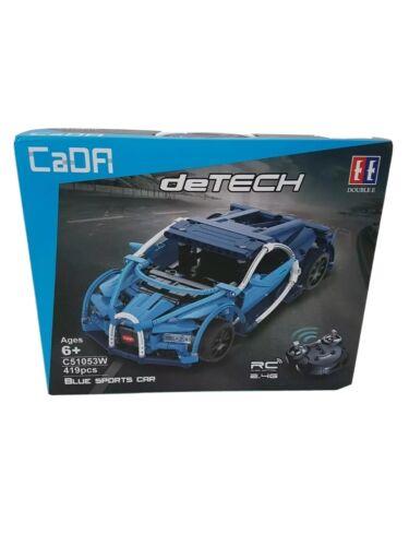 CaDA C51053W Blue Sports Car Klemmbausteine mit Fernsteuerung Neu und OVP