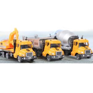 Camión Hormigonera Excavadora dumping 3PCS vehículo de construcción Coche Modelo Diecast