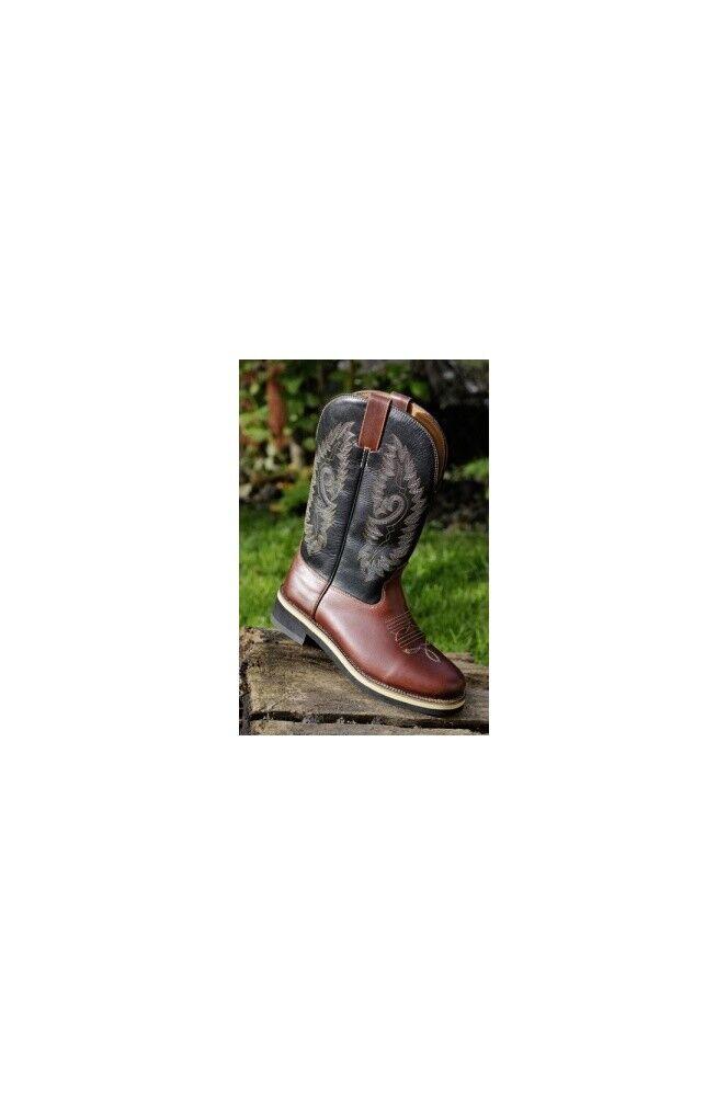 Western botas Softy Cow HKM western Texas marrón tamaños diferentes de nuevo
