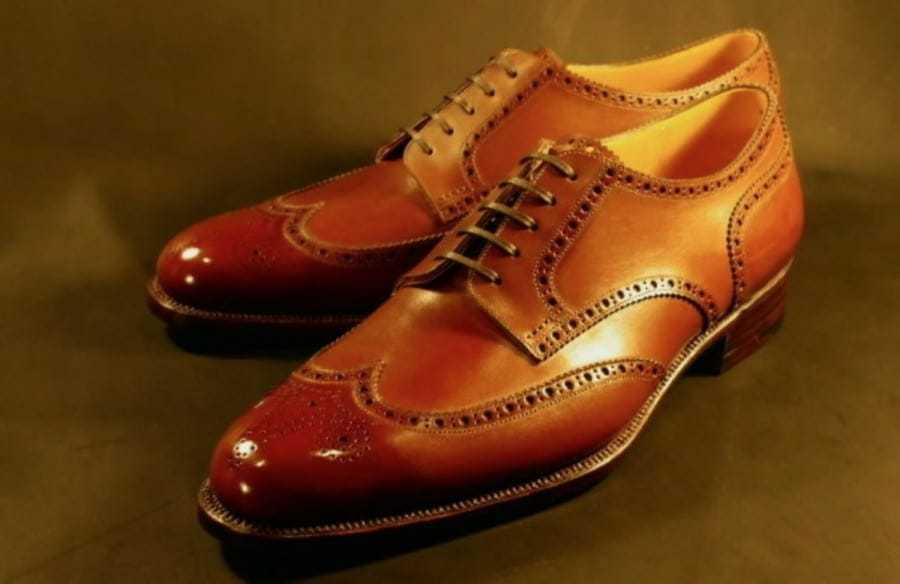 Artigianato  Uomo Genuino Cognac Leather Oxford Brogue Lace Up Classic Formal scarpe  economico e alla moda