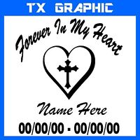 IN LOVING MEMORY OF FOREVER IN MY HEART STICKER DECAL VEHICLE GRAPHIC WINDOW