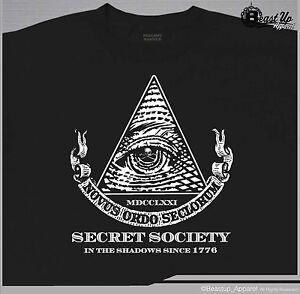 illuminati secret society new world order t shirt various sizes
