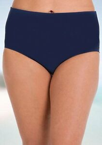 b8c8e7516a5 ANNE COLE® Plus Size 24W Navy High Waist Tummy Control Swim Bottom ...