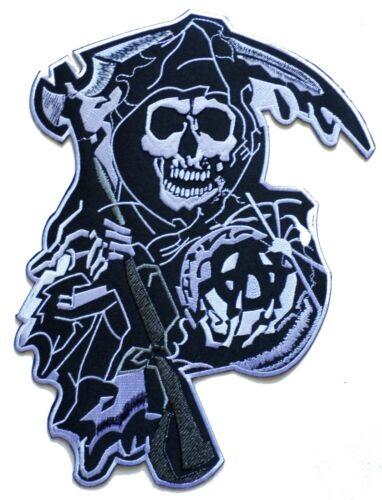 Patche dorsal dos Écusson grande taille la Mort anarchie brodé