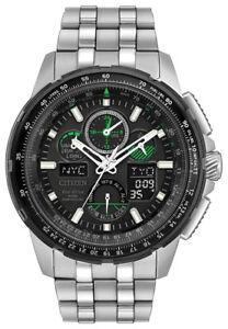 Citizen Eco-Drive Men's JY8051-59E Skyhawk A-T Black Dial Silver-Tone 47mm Watch