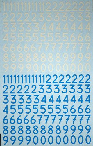 TARGA FLORIO Start Numéros Chiffres Number Numbers Blue White 1:43 décalque décalcomanie