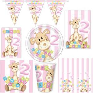 2 geburtstag deko partyartikel m dchen zweiter kindergeburtstag giraffe zahl 2 ebay. Black Bedroom Furniture Sets. Home Design Ideas