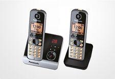Panasonic KX-TG6722 DECT-Schnurlostelefon mit AB schwarz