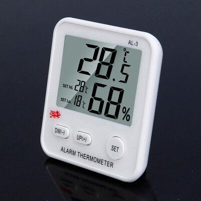 LCD Digital Thermometer Hygrometer Luftfeuchtigkeit Temperatur Außen Alarm Uhr