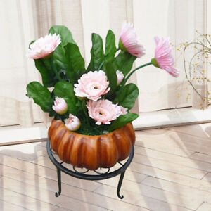 BH-Plant-Stand-Floor-Flower-Pot-Rack-Round-Iron-Garden-Indoor-Balcony-Decor-Ami