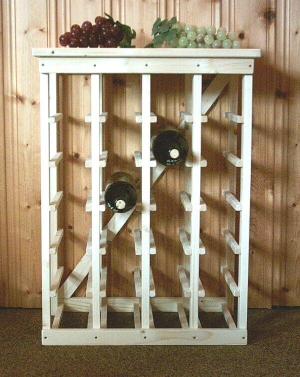 Design Weinregal aus Holz für 24 Flaschen  handgefertigt