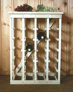 Design Weinregal Aus Holz Für 24 Flaschen Handgefertigt Ebay